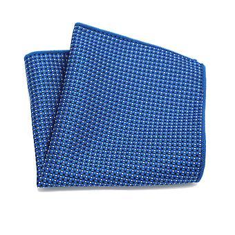Vaalea & tumma sininen risti & spotti kuvio tasku neliö