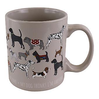 Stoneware Pet Hund Mugg 12oz