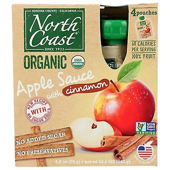North Coast Applesauce Cnn 4Pk Pch Eller, tilfælde af 6 X 12,8 Oz