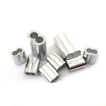 новый 100шт 1,2 мм 8-образный двойной отверстие алюминиевый рукав канатный зажим sm35624