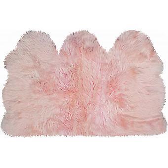 3 ' x 5 'Pink Natural Sheepskin Area Tæppe