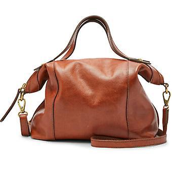 Fossil Sadie Leather Satchel Crossbody Brandy Handbag SHB1846213
