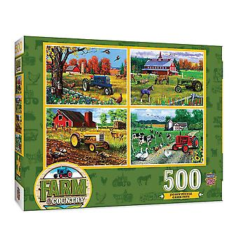 MP Farm & Country Farm Country 4 Pack Puzzle (500 pcs)