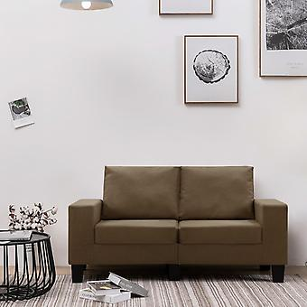 vidaXL 2 siège canapé tissu brun