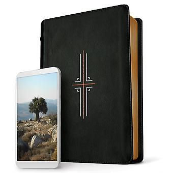 NLT خيوط الكتاب المقدس LEATHERLIKE الأسود من قبل Tyndale