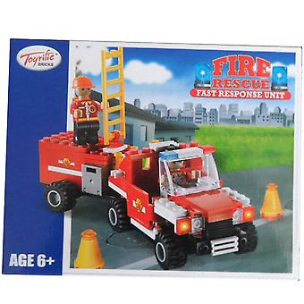 Toyrific Bricks Fire Rescue Fast Response Unit