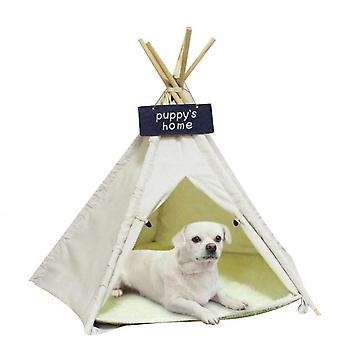 Dog Tent House 23.6inch Alto Grande Pet Teepee Letto- Soft Foldable Pet Houses con cuscino
