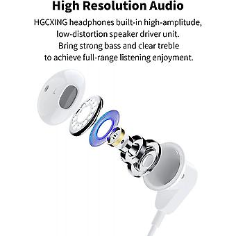 In-ear For Iphone Earphones Earbuds Wired Headphones Noise Isolating Earphones Built-in Mic&volume Control & Noise Cancellation Compatible Iphone 12/1