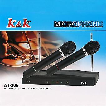 Professional Wireless Microphone System Dual Handheld Mic Set For Home Bars