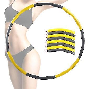الأصفر مرجح هولا هوب البطن ممارسة اللياقة البدنية الأساسية قوة حولا هوب