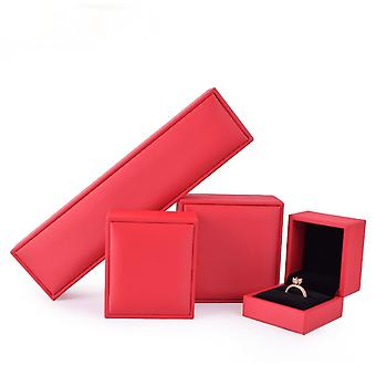 Jewelry storage box brushed pu gift  ring pendant  necklace bracelet holders case with 4 boxes