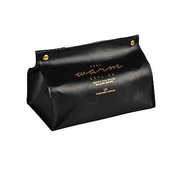 2Pcs Faux Leather Napkin Holder Home Car Tissue Case Box Paper Storage Pouch