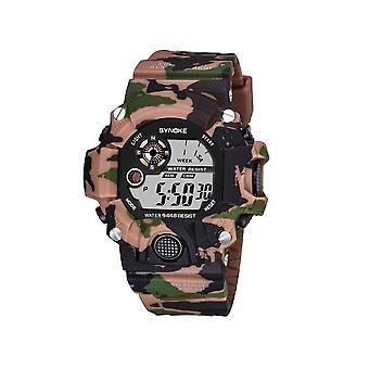 Moda Electronice Watch Camuflaj Sport Impermeabil Student Watch Brown