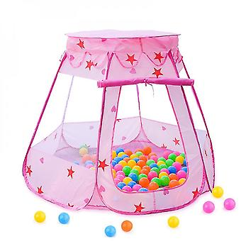 Tent For Toddlers And Girls  Foldable And Portable  As Playhouse & Ball Pit For Indoor Outdoor(PINK)