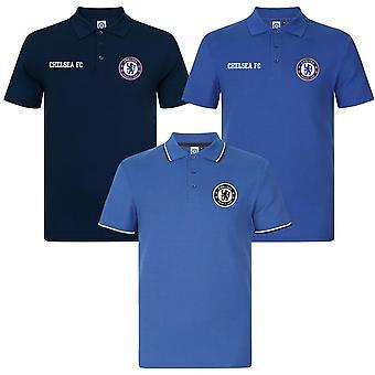 Chelsea FC Boys Polo Shirt Crest Kids Regalo oficial de fútbol