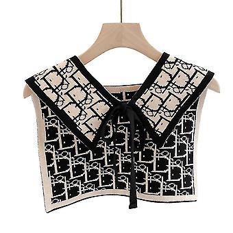 Anti Crease puoli paidat kirjonta ruudukko väärä kaulus kaikki vastaavat etninen irrotettava pusero musta