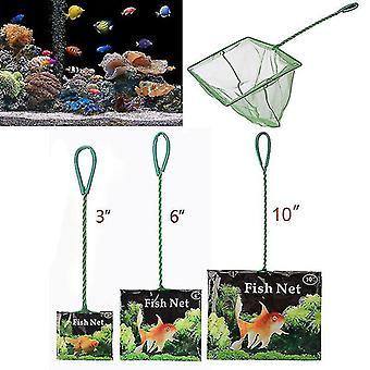 Rete di pesce portatile Long Handle Square Aquarium Accessori Acquario Vasca di sbarco Rete da pesca Pesce