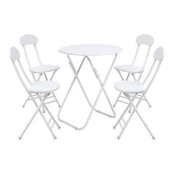 Ensemble de 5 chaises de table à manger rondes pliantes