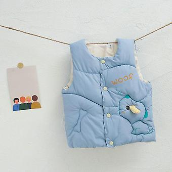 Herfst winter warm vest voor baby schattige cartoon vest katoen