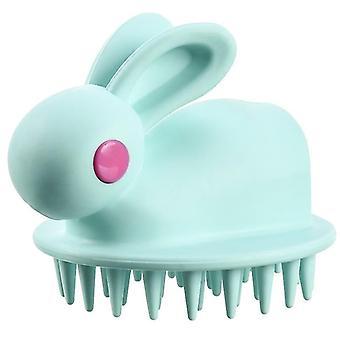 Siliconen Shampoo Hoofdhuid Haar Massage Brush (Groen)