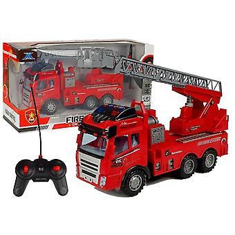 Op afstand bestuurbare auto - Brandweerauto met ladder - met geluid