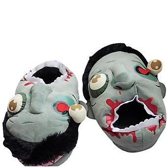 Zomibe Slippers Fuzzy Stuffed Zomibe Shoes Funny Cosplay Halloween Costumes for Teens Adults 38-44 OneSize