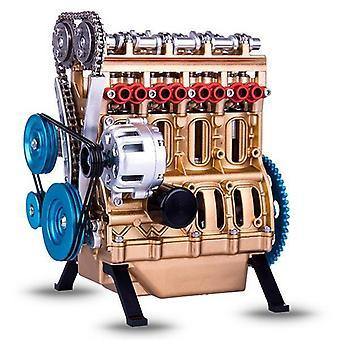 V4 Voiture Moteur Ornement 4 Cylindres Moteur de Voiture Modèle Résine Ornement Décoration mécanique