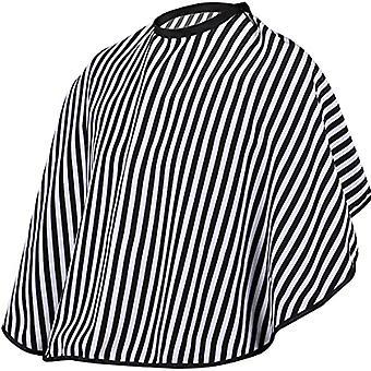 Ajustable Noir et Blanc Rayure Coiffure Robe Coupe de cheveux / barbiers Cape