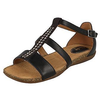 Ladies Clarks Diamonte detaljert sandaler høst frisk
