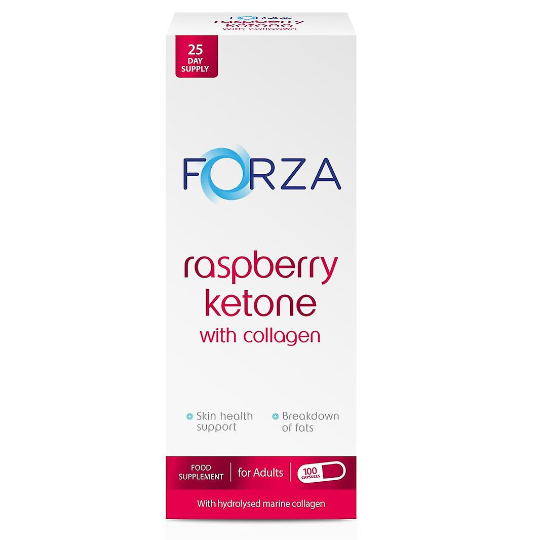FORZA Raspberry Ketone met collageen 100 Capsules