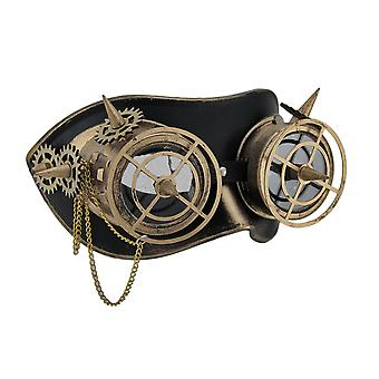 Geared Up Spiked Steampunk Adult Goggles Mask w/Chain