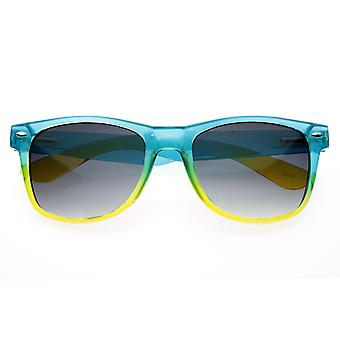 هلام مشرق التدرج الملونة المزدوجة حلوى القرن انعقدت النظارات الشمسية