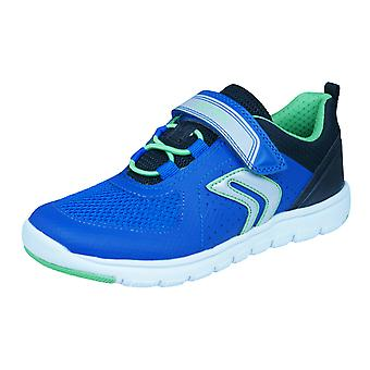 Geox J Xunday B B Boys Trainers / Shoes - Blue and Black