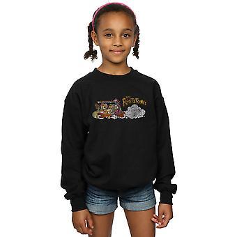 The Flintstones Girls Family Car Distressed Sweatshirt