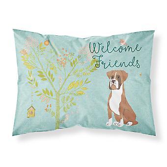 ようこそ友人派手な子鹿ボクサー ファブリックの標準的な枕