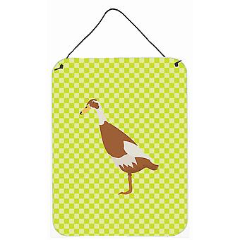Canard coureur indien vert mur ou porte accrocher impressions
