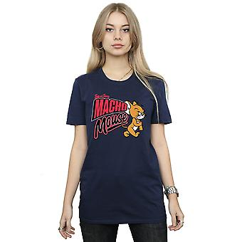 Tom And Jerry Women's Macho Mouse Boyfriend Fit T-Shirt