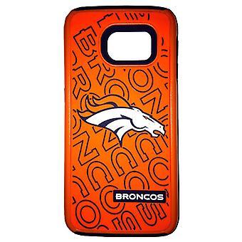 Funda dual híbrida de la Liga Nacional de Fútbol Americano para Samsung Galaxy S6 Edge (Denver Broncos