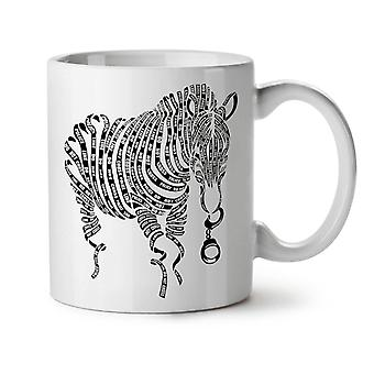 Zebra Tape Art Cop Animal NEW White Tea Coffee Ceramic Mug 11 oz | Wellcoda