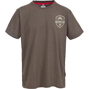 Trespass Mens Rawhider Knitted Polyester Short Sleeved Graphic T Shirt