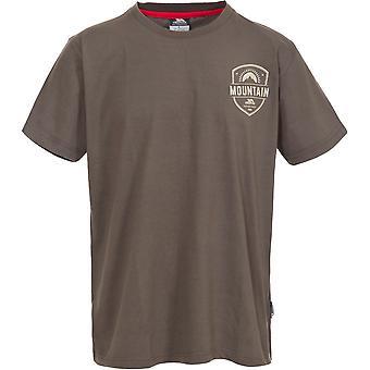 Hausfriedensbruch Mens Rawhider gestrickt aus Polyester kurzen Ärmeln Grafik T-Shirt