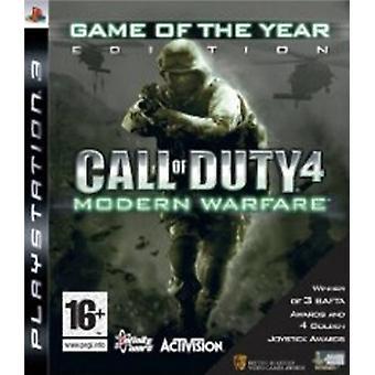 Call of Duty 4 Modern Warfare-game van het jaar 2009 Edition (PS3)-nieuw