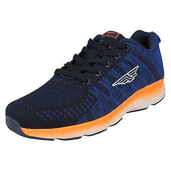 Mens Redtape Casual Trainers RSC0084 - Navy Textile - UK Size 10 - EU Size 44 - US Size 11