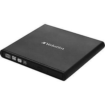 Verbatim ulkoinen DVD-asema 98938 vähittäiskaupan USB 2.0 musta