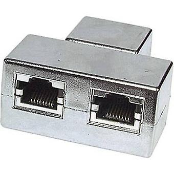 EFB Elektronik RJ45 Networks Y adapter CAT 5e [2x RJ45 socket - 1x RJ45 socket] Metaal