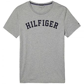 Tommy Hilfiger Organic Cotton Short Sleeved Crew Neck T-Shirt, Heather Grey, X-Large