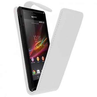 Tapauksessa sovi matkapuhelin Sony Xperia M valkoinen