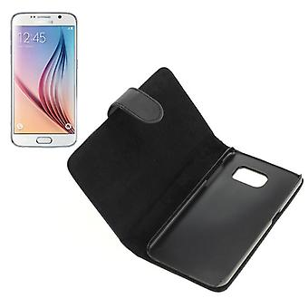OTB bag (synthetic leather) for Samsung Galaxy S6 SM-G920 BookStyle black
