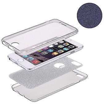 Crystal tapauksessa kattaa varten Apple iPhone 5 / 5 s / SE glitter tapauksessa musta koko kehon