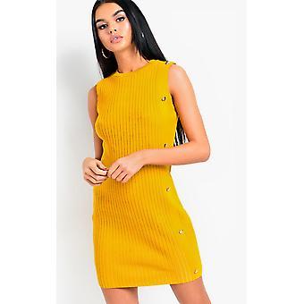 IKRUSH Womens Nyan tricoté bouton Mini robe